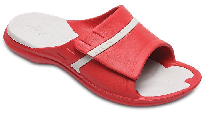 Crocs Pepper/Pearl White Modi Sport Slides Shoes