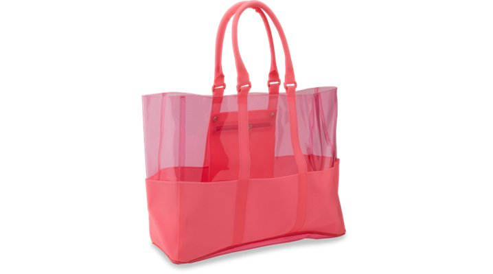 Crocs Pink Classic Translucent Beach Tote Shoes