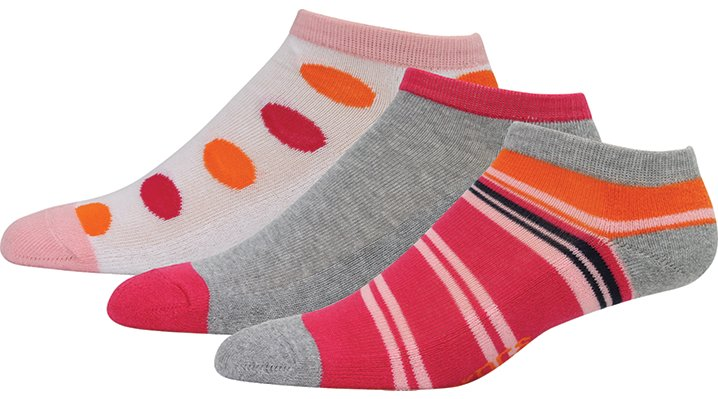 Crocs Pink / Orange Women'S Low Fashion Socks 3-Pack Shoes