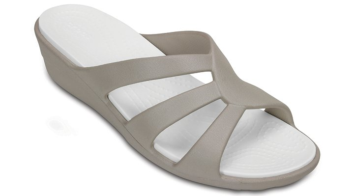 Crocs Platinum Women's Sanrah Strappy Wedge Shoes