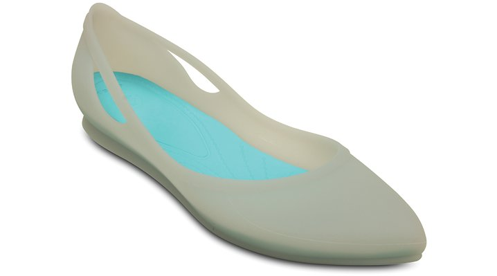 Crocs Platinum / Pool Women'S Crocs Rio Flat Shoes