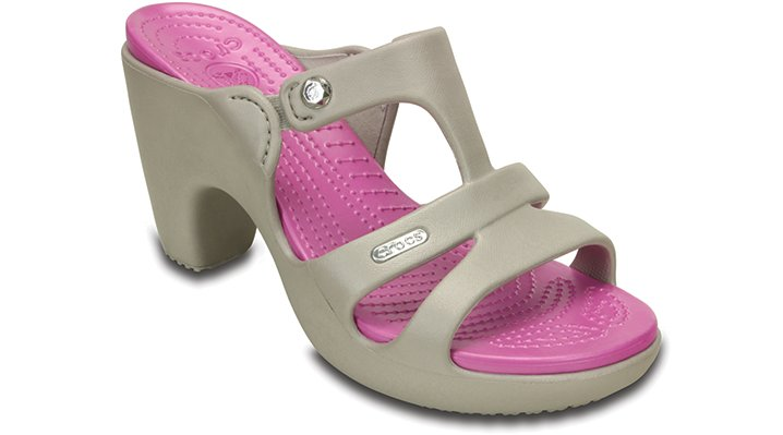 Crocs Platinum / Wild Orchid Women'S Cyprus V Heel Shoes