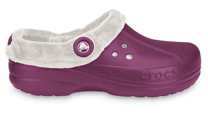 Crocs Plum / Oatmeal Blitzen Polar Comfortable Furry Clog
