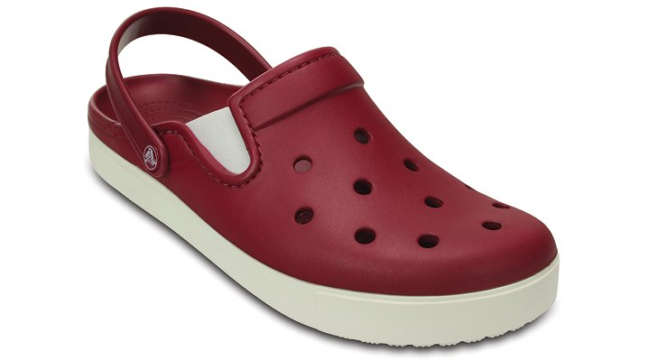 Crocs Pomegranate / White Citilane Clog Shoes