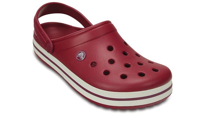 Crocs Pomegranate / White Crocband™ Clog Shoes