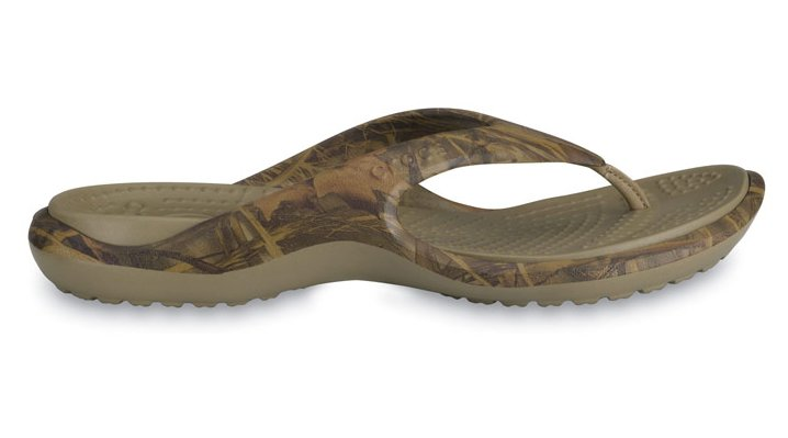 Crocs Rt Max 4 / Khaki Realtree Max-4 Baja Realtree&Reg; Camouflage Flip Flops