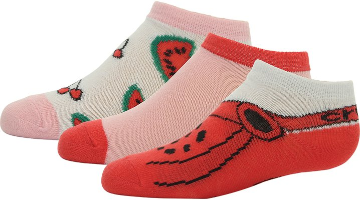 Crocs Raspberry / Bubblegum Kids' Low Fashion Socks 3-Pack Shoes