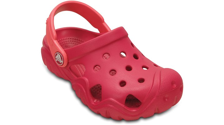 Crocs Raspberry / Coral Kids' Swiftwater Clog Shoes