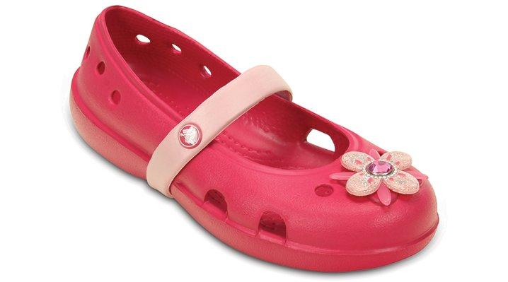 Crocs Raspberry / Petal Pink Kids' Keeley Springtime Flat (Children's) Shoes