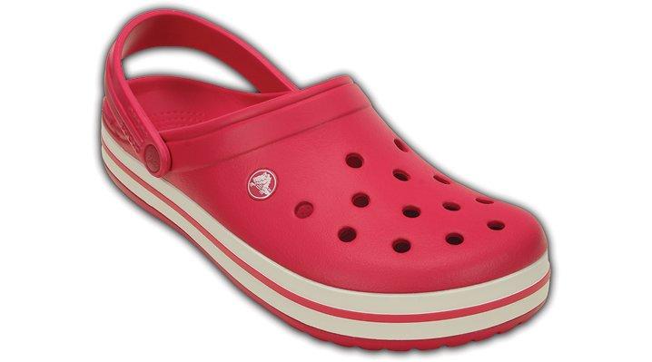 Crocs Raspberry / White Crocband™ Clog Shoes
