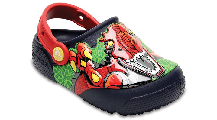 Crocs Robosaur Rex Kids' Crocs Fun Lab Lights Clog Shoes