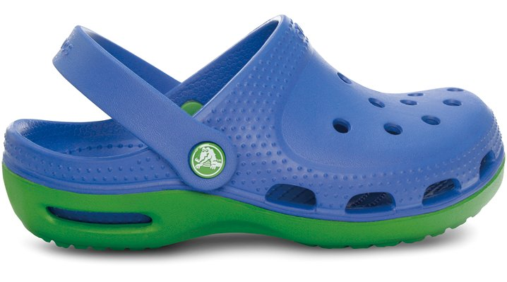 Crocs Sea Blue / Parrot Green Duet Plus Kids Comfortable Kids' Clogs