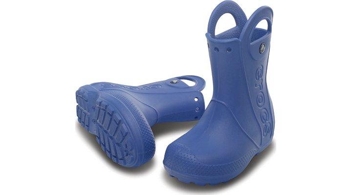 クロックス 公式オンラインショップ【クロックス公式】【送料無料】【最短翌日お届け】 ハンドル イット レイン ブーツ キッズ - Handle It Rain Boot Kids 18.5cm ブルー レインブーツ(長靴)