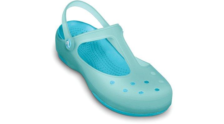 Crocs Sea Foam / Aqua Women's Carlie Mary Jane Women's Comfortable Clogs