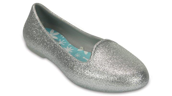 Crocs, Inc. Crocs Silver Kids' Crocs Eve Sparkle Flat Shoes
