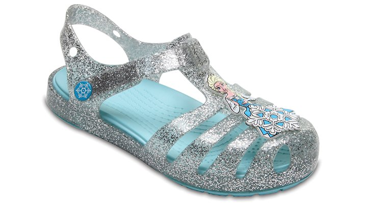Crocs Silver Kids' Crocs Isabella Frozen™ Northern Lights Sandals Shoes