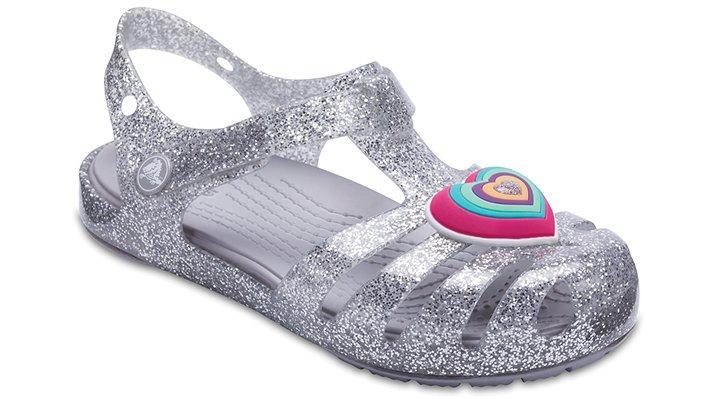 Crocs Silver Kids' Crocs Isabella Novelty Sandal Shoes 205038040
