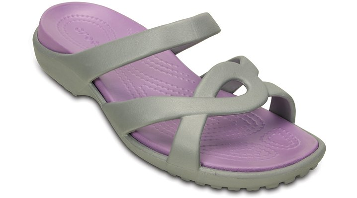 Crocs Silver / Iris Women'S Meleen Twist Sandal Shoes