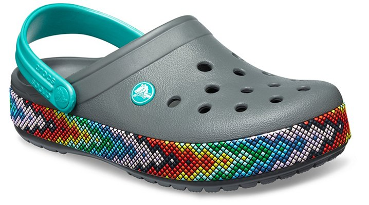 Crocs Slate Grey Crocband™ Gallery Clogs Shoes