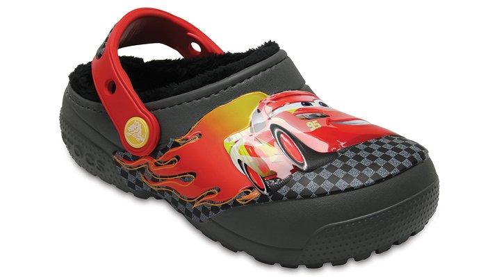 Crocs Slate Grey Kids' Crocs Fun Lab Fuzz Lined Cars™ Clog Shoes