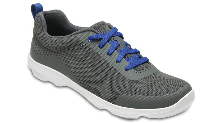 Crocs Slate Grey Women's Busy Day Stretch Mesh Lace-Up Shoes