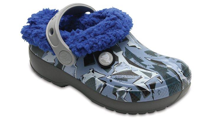 Crocs Slate Grey/Blue Jean Kids' Classic Blitzen Iii Graphic Clog Shoes