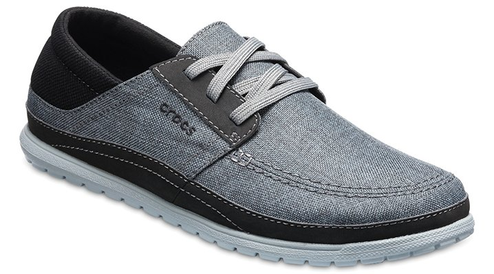 Crocs Slate Grey/Light Grey Men's Santa Cruz Playa Lace-Ups Shoes