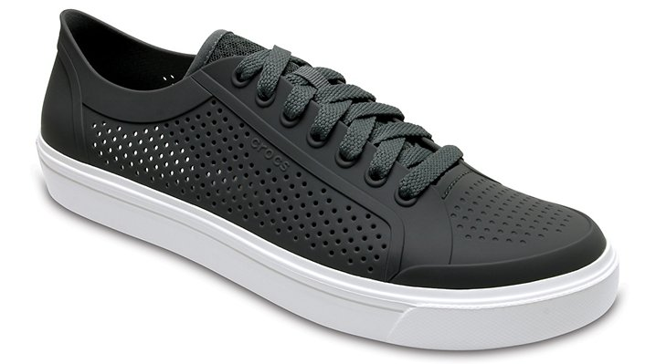 Crocs Slate Grey/White Men's Citilane Roka Court Shoes