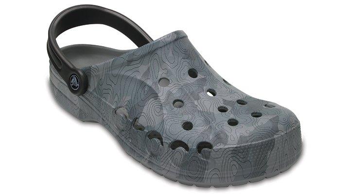 Crocs Smoke Baya Graphic Clogs Shoes