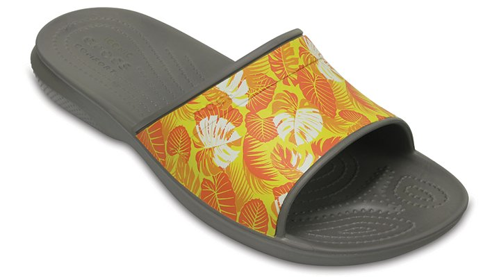 Crocs Smoke Classic Tropical Graphics Slides Shoes