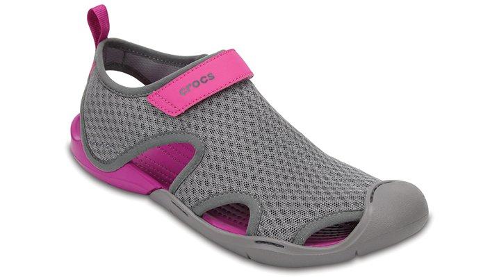 Crocs Smoke Women's Swiftwater Mesh Sandals Shoes