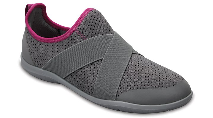 Crocs Smoke / Light Grey Women's Swiftwater Cross-Strap Shoes