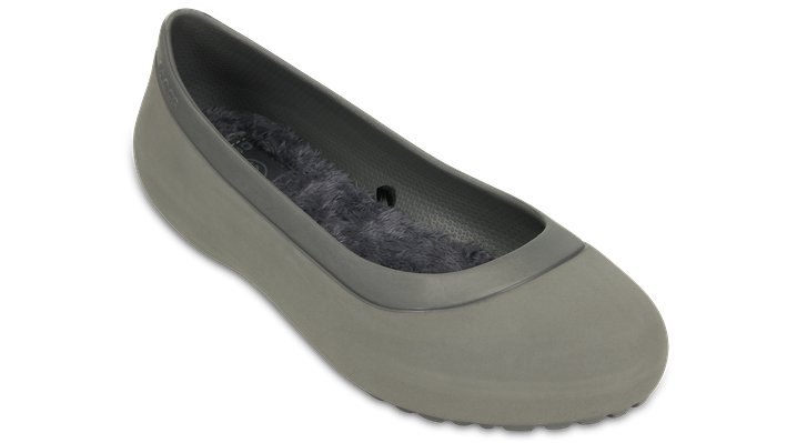 Crocs Smoke / Smoke Women'S Mammoth Flat Shoes