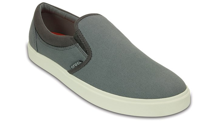 Crocs Smoke / White Men'S Citilane Slip-On Sneaker Shoes