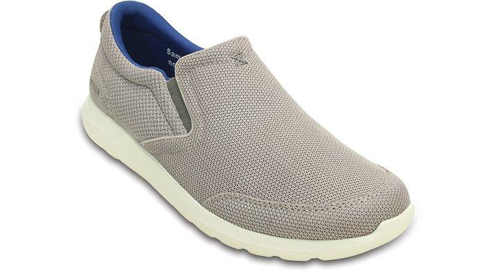 Crocs Smoke / White Men's Crocs Kinsale Mesh Slip-On Shoes
