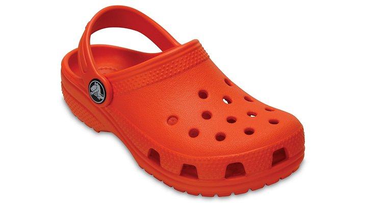 Crocs Tangerine Kids' Classic Clog Shoes