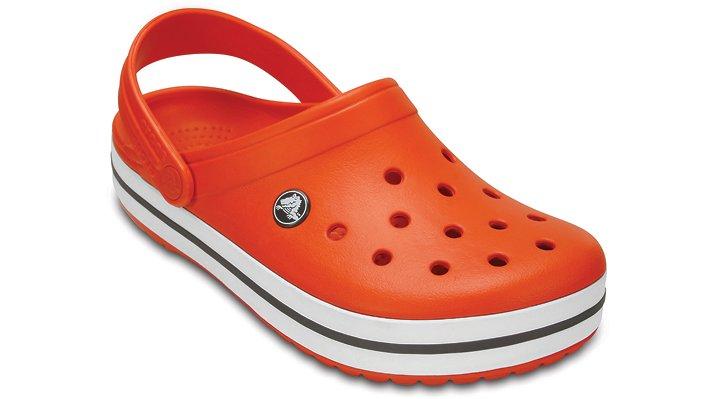 Crocs Tangerine / White Crocband™ Clog Shoes