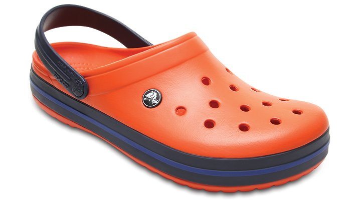Crocs Tangerine/Navy Crocband™ Clog Shoes