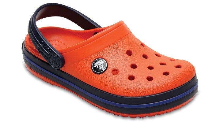 Crocs Tangerine/Navy Kids' Crocband™ Clog Shoes