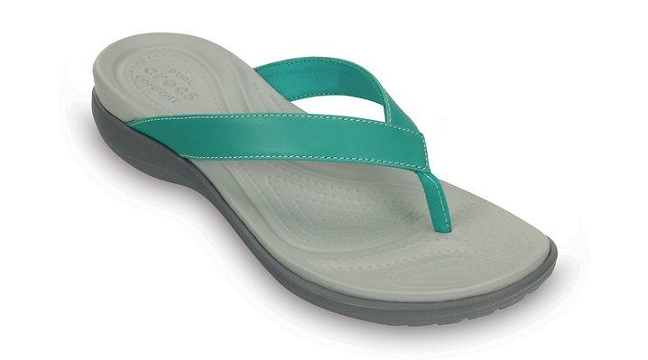 Crocs Teal Women'S Capri V Flip Shoes