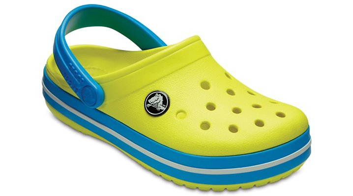 Crocs Tennis Ball Green/Ocean Kids' Crocband™ Clog Shoes