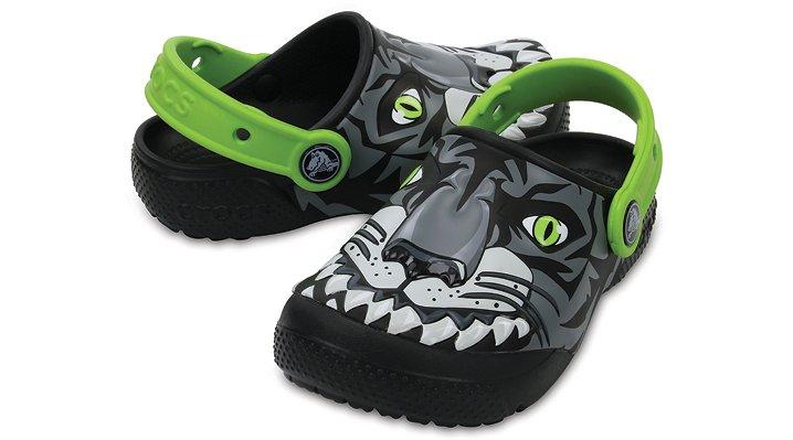 Crocs Tiger / Graphite Kids' Crocs Fun Lab Clogs Shoes
