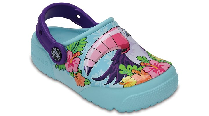 Crocs Toucan / Ice Blue Kids' Crocs Fun Lab Lights Clogs Shoes