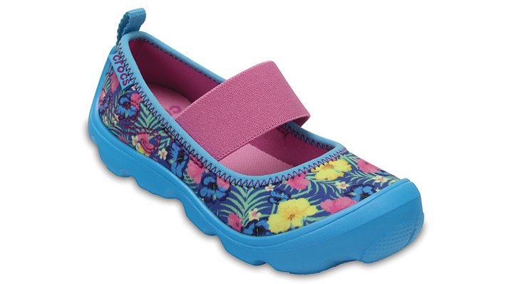 Crocs Tropical Kids' Duet Busy Day Mary Jane Graphic Ps Shoes