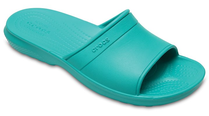 Crocs Tropical Teal Classic Slide Shoes