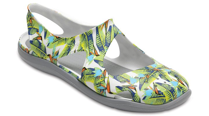 Crocs Tropical/Volt Green Women's Swiftwater Wave Graphic Shoes