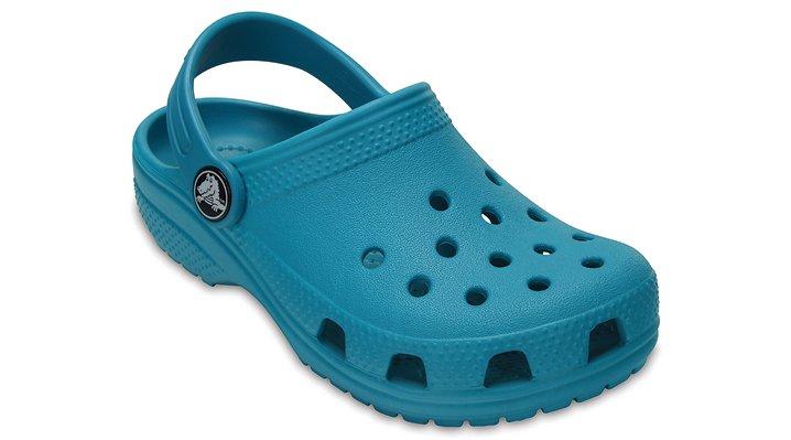 Crocs Turquoise Kids' Classic Clog Shoes