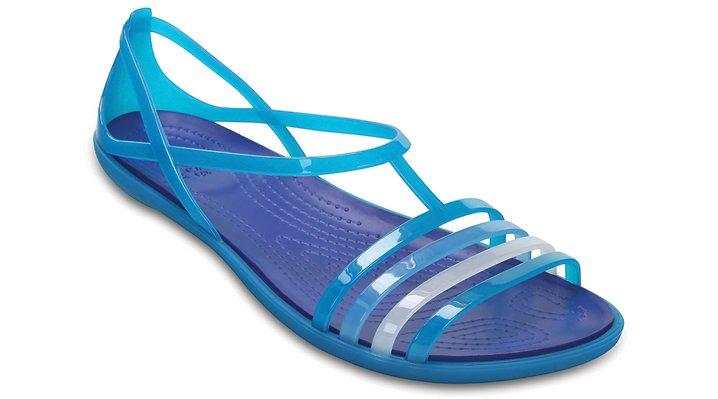 Crocs Turquoise / Cerulean Blue Women'S Crocs Isabella Sandal Shoes