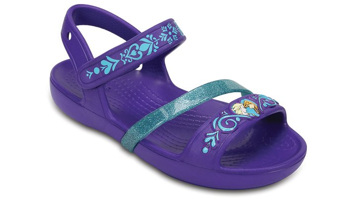 Crocs Ultraviolet Kids' Crocs Lina Frozen™ Sandals Shoes