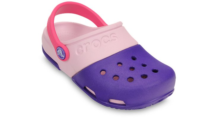Crocs Ultraviolet / Bubblegum Kids' Electro Ii Clog Shoes
